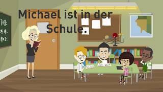 Deutsch lernen mit Dialogen / Lektion 29 / Wechselpräpositionen mit Dativ / Zimmer beschreiben