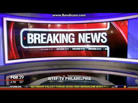 "WTXF Fox 29 ""Good Day Philadelphia"" at 5am breaking news cold open October 2, 2017"