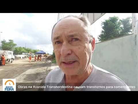 Obras na Avenida Transnordestina causam transtornos para comerciantes