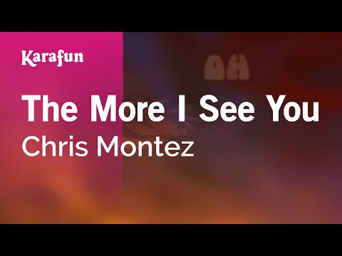 Karaoke The More I See You - Chris Montez *