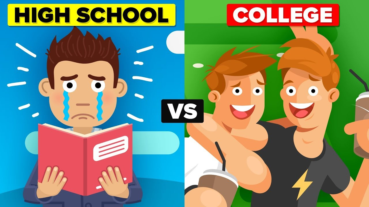 similarities of high school and college