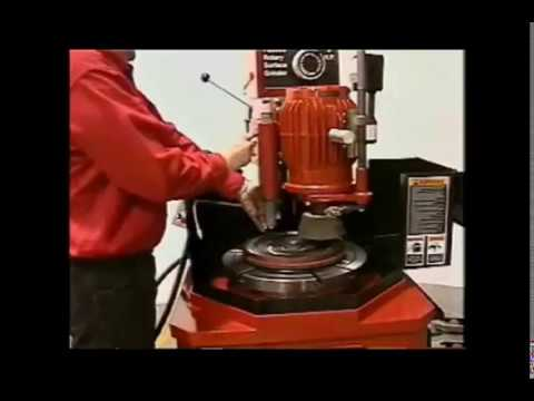 How To Operate The Van Norman Flywheel Grinder.