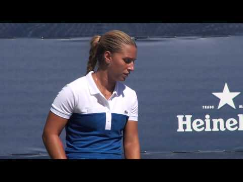 Cibulkova Serving at 2012 US Open