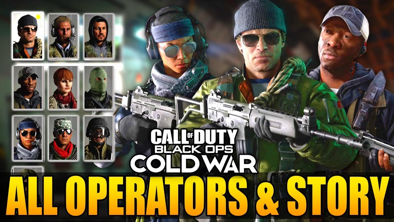 Black Ops Cold War All Operators And Multiplayer Story Youtube