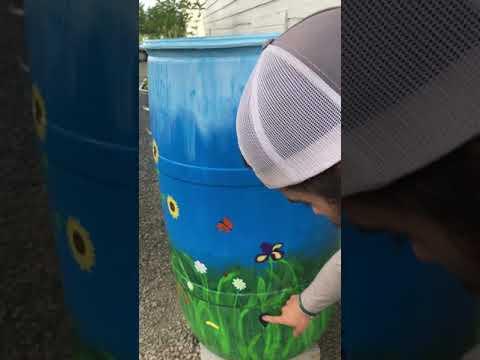 how hook up a rain barrel