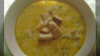 Сырный суп плавленный. Суп сырный фото