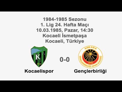/Kocaelispor 0-0 Gençlerbirliği 10.03.1985 - 1984-1985 Turkish 1st League Matchday 24 | Farklı bir pencereden futbol