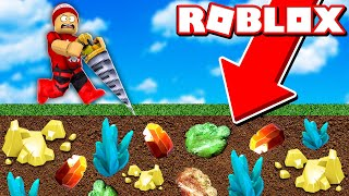 Digging the soil to find ores in the drilling simulator!! → Roblox Drilling Simulator 🎮