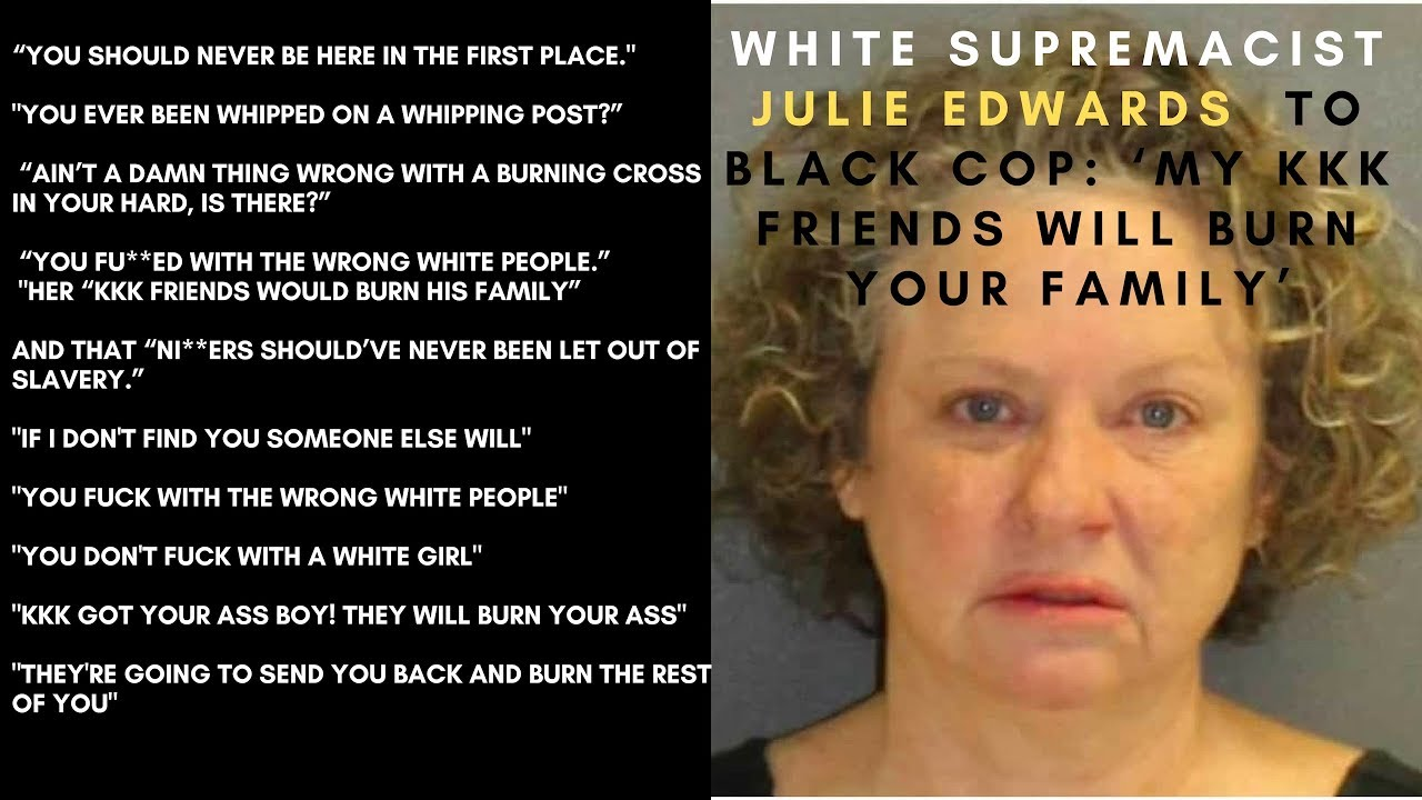 "White Woman Tells Black Police Officer ""They're Going To Send You Back & Burn The Rest"