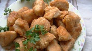 """Сочное мясо """"Карбонат из курицы с кунжутом""""."""
