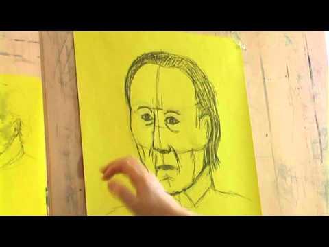 Kalli Kalde: Tartu Kunstikooli õppevideo portree joonistamisest.avi