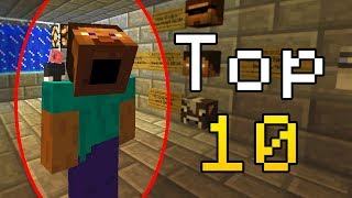 Top 10 Minecraft Creepy Glitches! (Weird Minecraft Glitches)