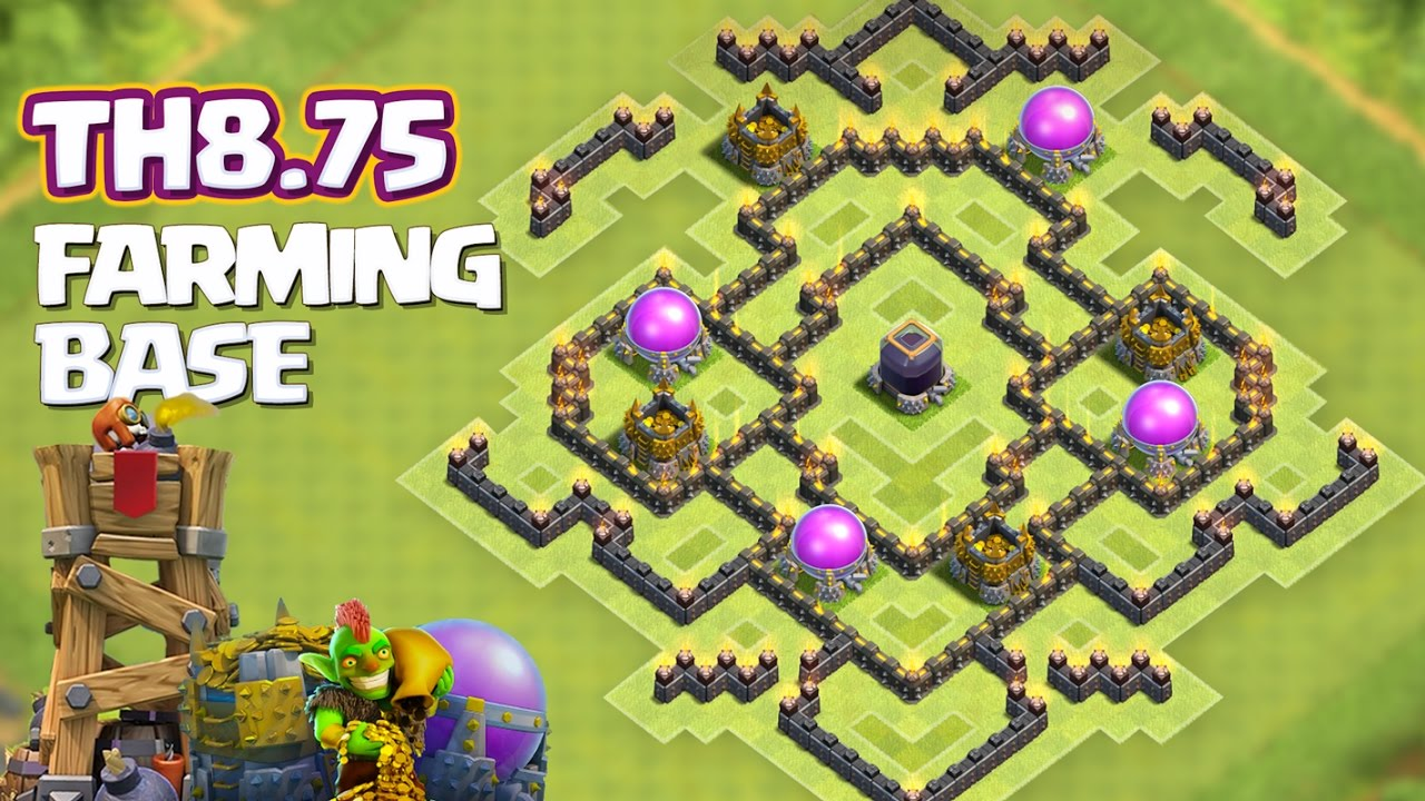 Th9 Farming Base Without Xbows 8