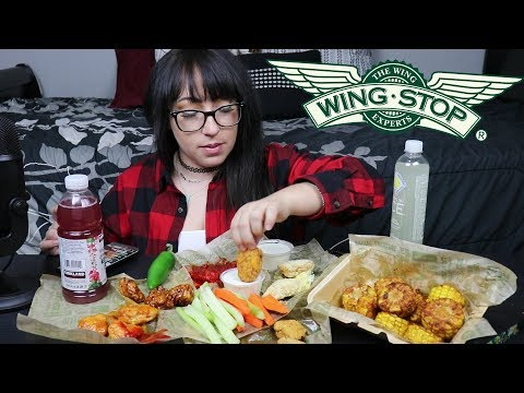 WING STOP MUKBANG  EATING SHOW