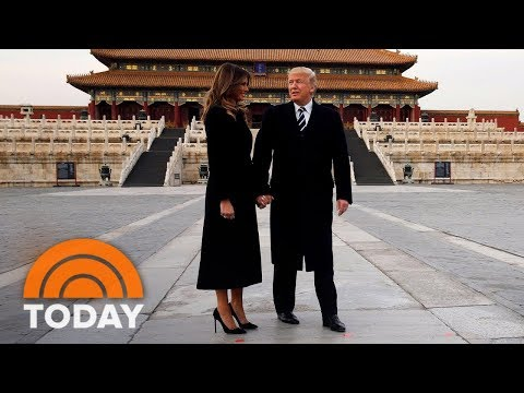 President Donald Trump Arrives In Beijing For High-Stakes Meetings | TODAY