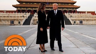 President Donald Trump Arrives In Beijing For High-Stakes Meetings   TODAY