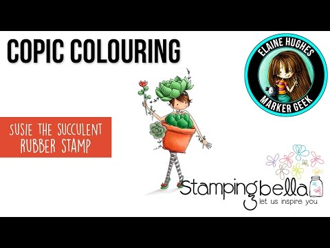 Stamping Bella EB505 Cling Stamps-Susie The Succulent
