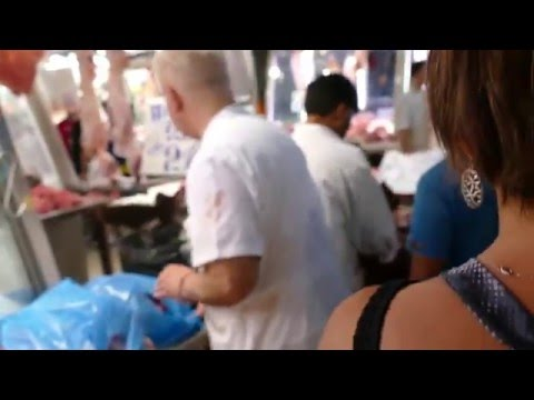 A Walk thru Meat Market in the Varvakios Agora (Central Public Market) in Athens, Greece