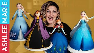 Disney Frozen Anna and Elsa princess cake decorating tutorials  Frozen 2