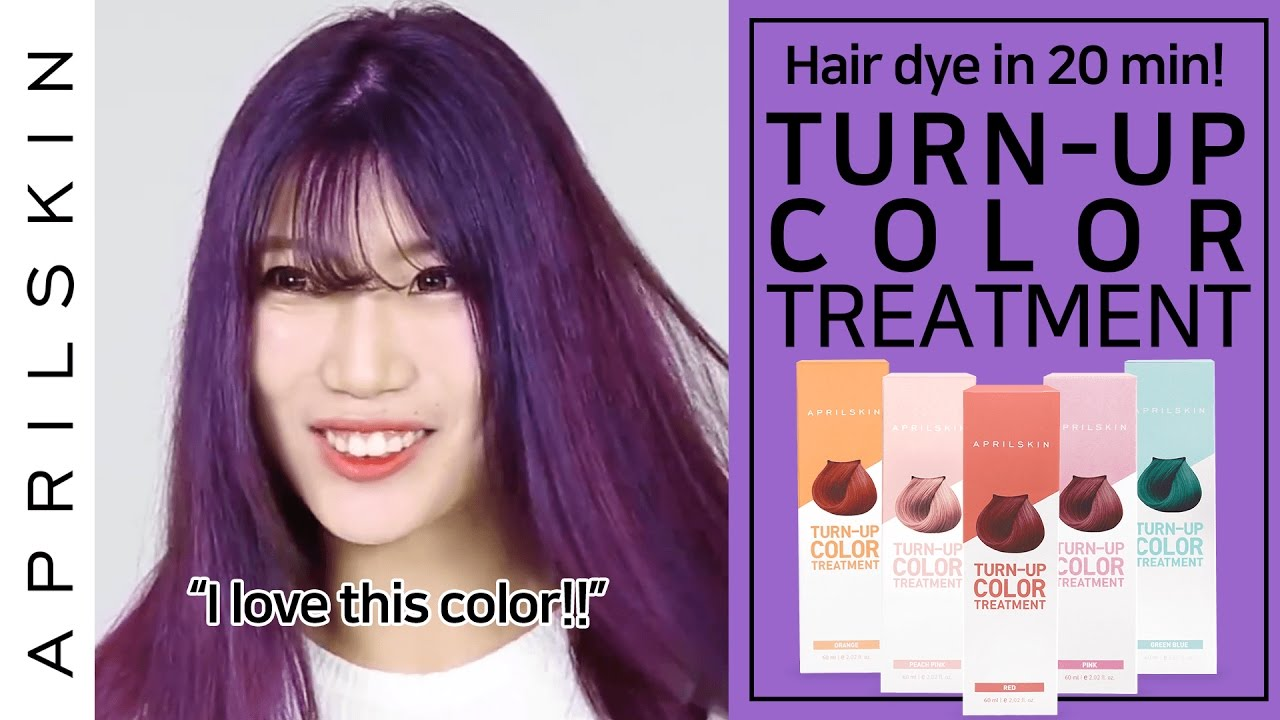 Violet Hair Dye In 20 Mins With Turn Up Color Treatment Aprilskin