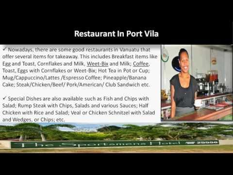 Hotel in Vanuatu with Accommodation, Restaurant, Bar & Bistro Facilities by The Sportsmens Hotel