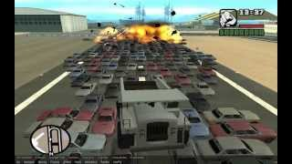 Взрыв (не знаю сколько) машин в GTA San Andreas