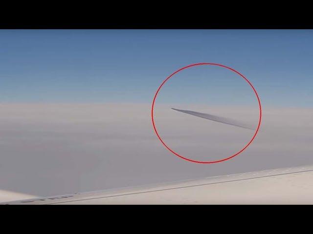 Pasajeros de un avión graban un ovni completamente plano sobre Turquía