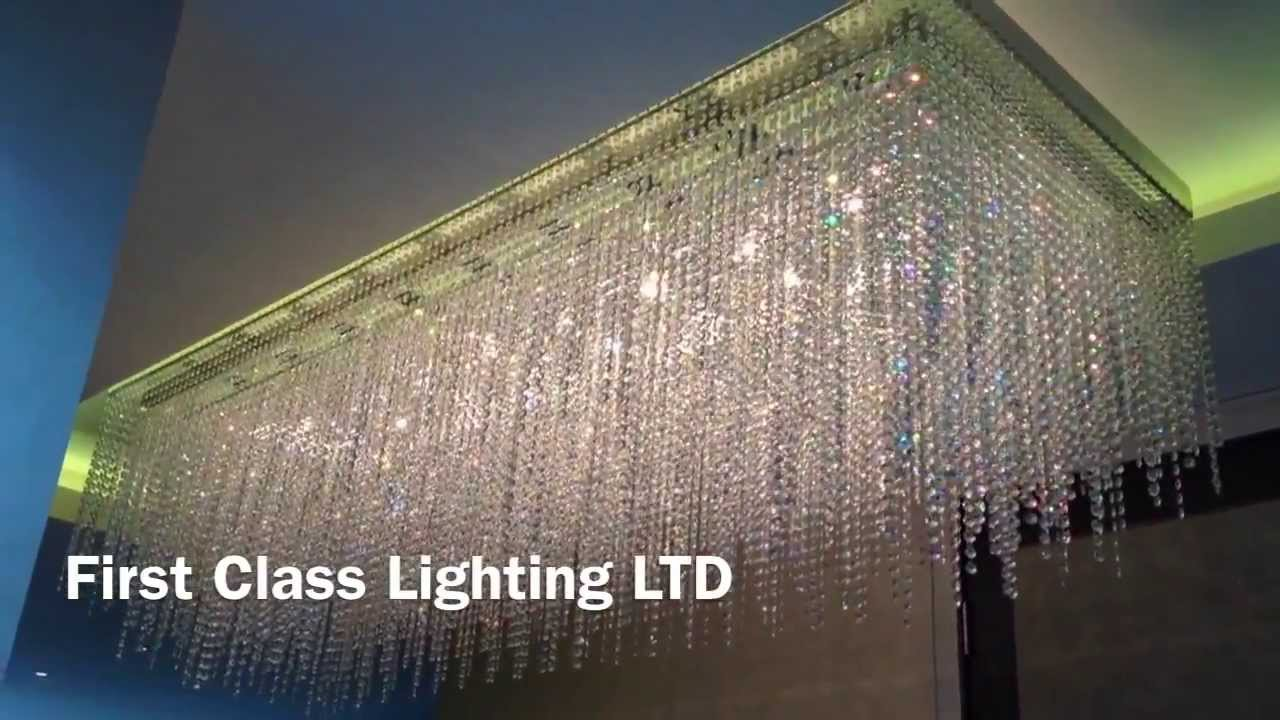 Custom bespoke made crystal chandelier by first class lighting youtube arubaitofo Image collections