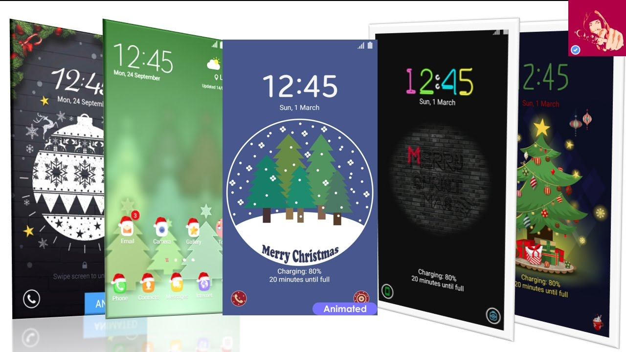 top christmas animated themes for samsung galaxy device free youtube