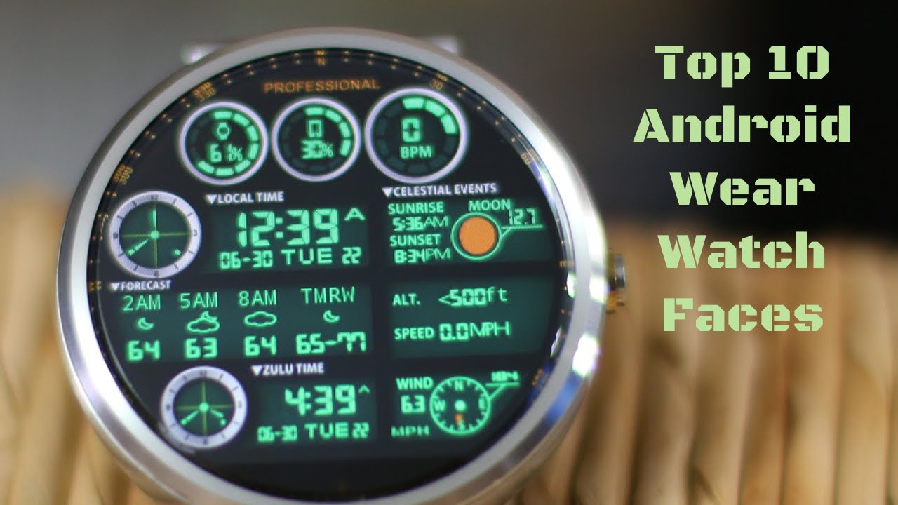 Top 10 Android Wear Watch Faces 2 Youtube