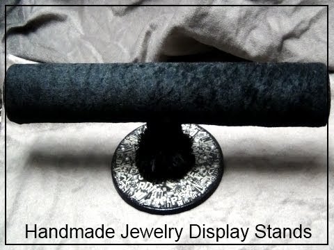 □ How To Make Jewelry Holders □ Fabric TBar Display Stand Fascinating How To Make A Jewelry Stand Display