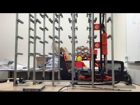 Mini pallet ASRS cycle testing