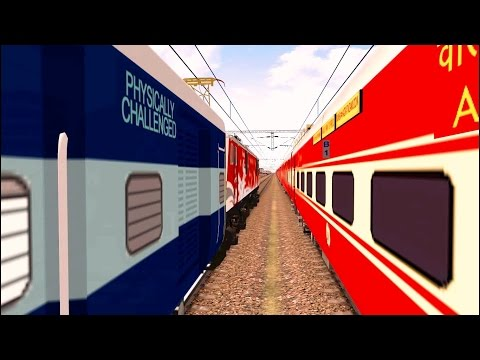 Kochuveli Dehradun Exp Real Journey in MSTS Open Rails by Sumit Mehrotra