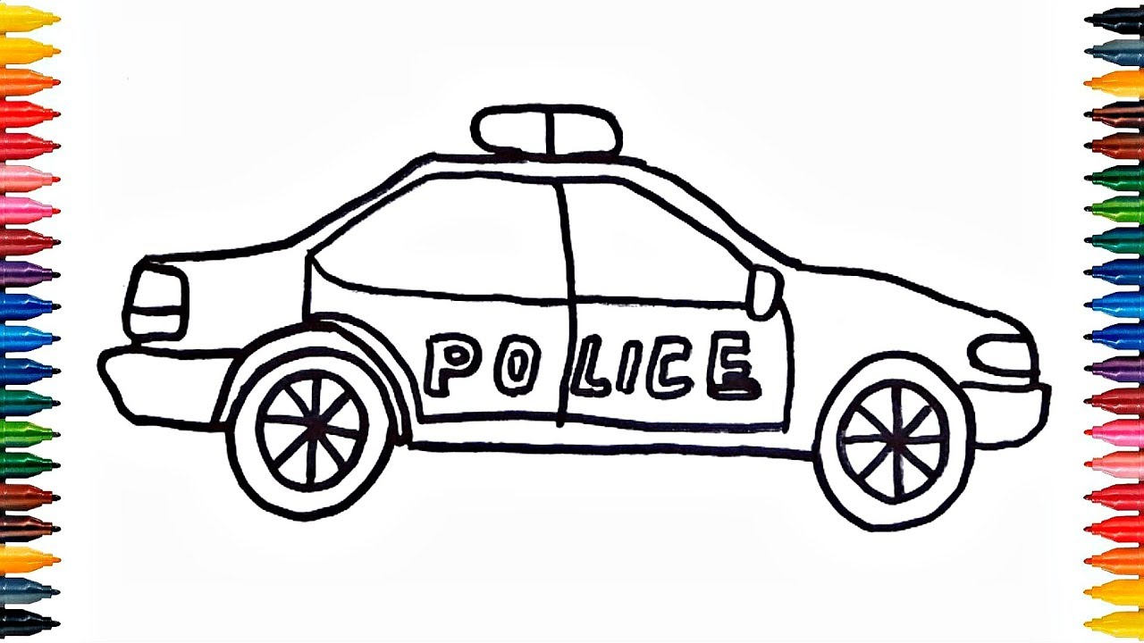 Drawing Police Car How to Draw Police Car Coloring Book ...