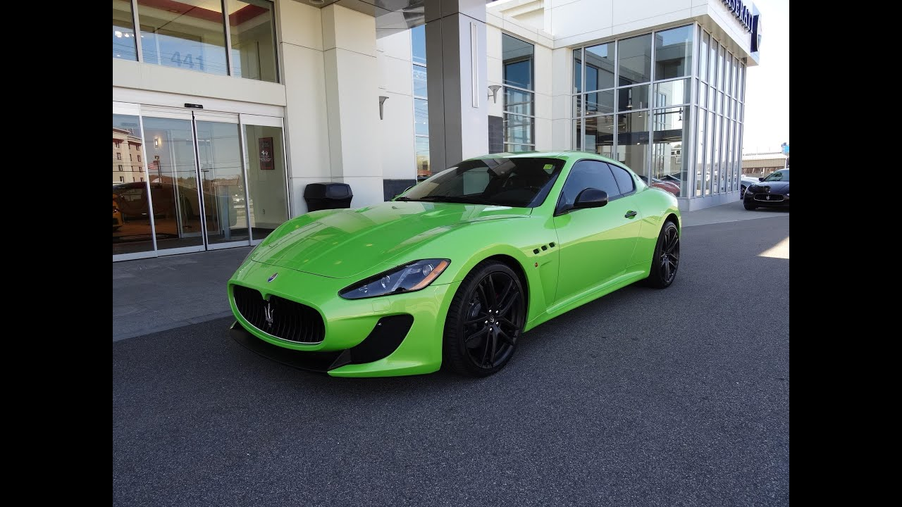 Awesome Lime Green Maserati GranTurismo MC   YouTube