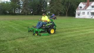 Mowing with the John Deere z950r