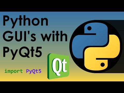Python GUI's with PyQt5