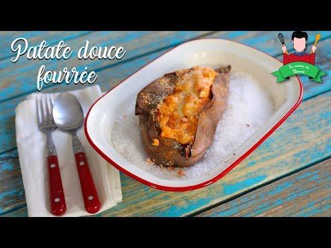 recette-de-patate-douce-farcie-au-chèvre-et-miel