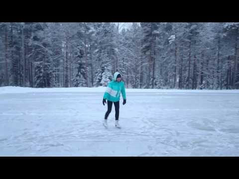 The ice skating rink in Kokkola, Finland