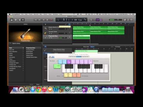 GarageBand Tutorial 6 - Creating a Chord Progression using C - Am ...