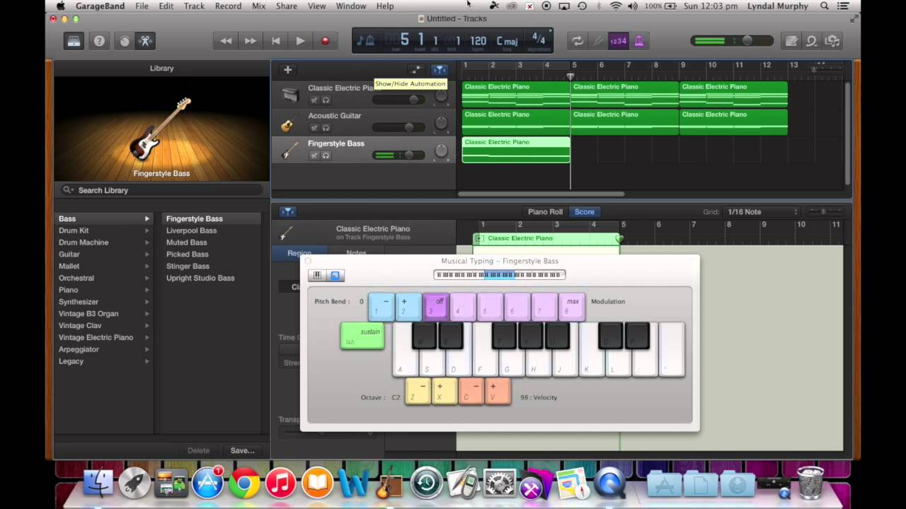 GarageBand Tutorial 6 - Creating a Chord Progression using C - Am - F - G