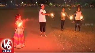 Diwali Festival 2018 Celebrations Around India | Deepavali | V6 News