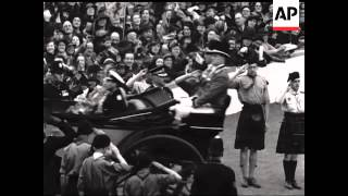 King George VI Opens Scottish Exhibition  - NO SOUND - LONG VERSION