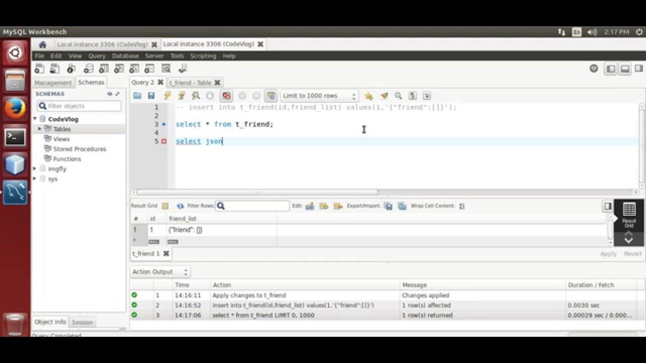 MySQL 5 7: MySQL JSON data type example