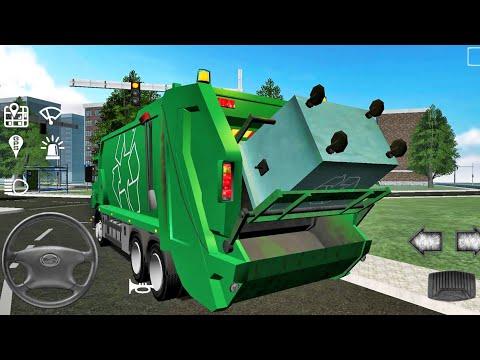 Trash Truck Simulator #4 - Android IOS Gameplay Walkthrough