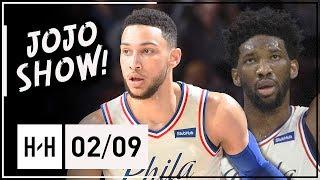 Joel Embiid & Ben Simmons Full Highlights 76ers vs Pelicans (2018.02.09) - 24 Pts for JoJo!