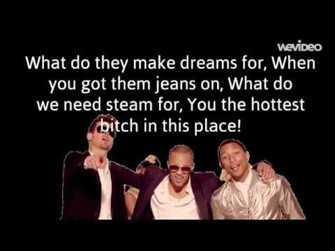 Robin Thicke - Blurred Lines feat. T.I. & Pharrell (Lyrics) Video