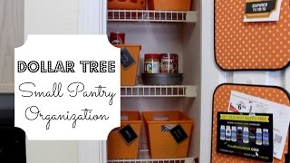 Organize a SMALL Pantry: under $20!