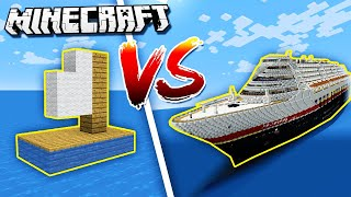 Minecraft NOOB vs. PRO: BOAT BATTLE in Minecraft!