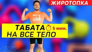 Тренировка на все тело дома ТАБАТА для похудения Жиротопка 42 день